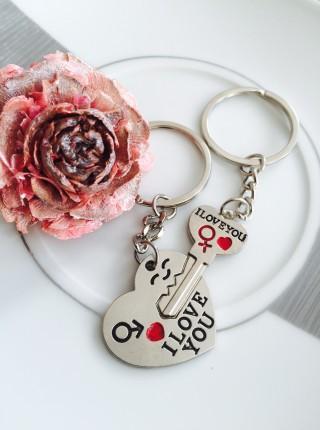 Kľúčenky pre dvoch Srdce kľúčik