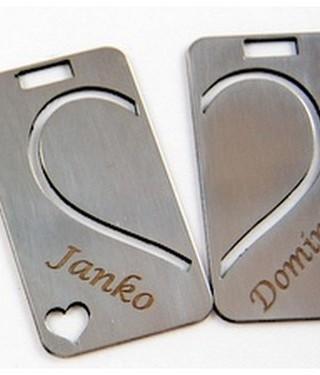 Valentínske kľúčenky