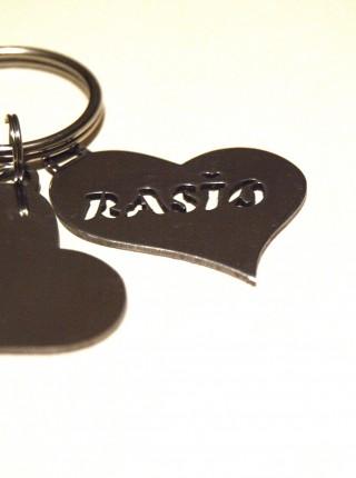 Valentínske kľúčenky s menami