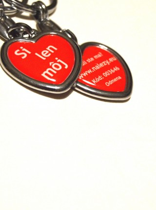 Valentínska kľúčenka pre muža