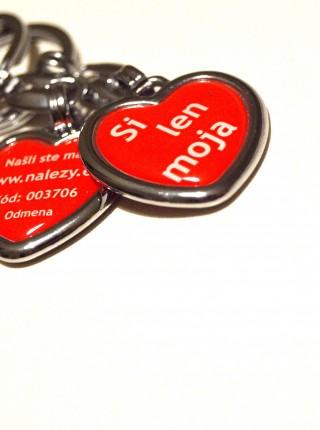 Valentínska kľúčenka pre ženu