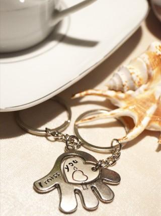 Kľúčenky pre dvoch - Ruka - Srdce