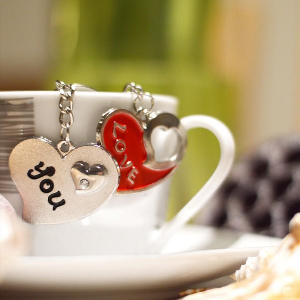 Kľúčenky pre dvoch Dve srdcia