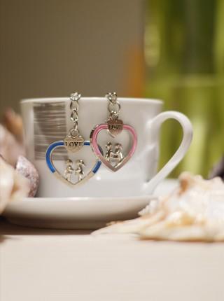 Kľúčenky pre dvoch Srdce s párom