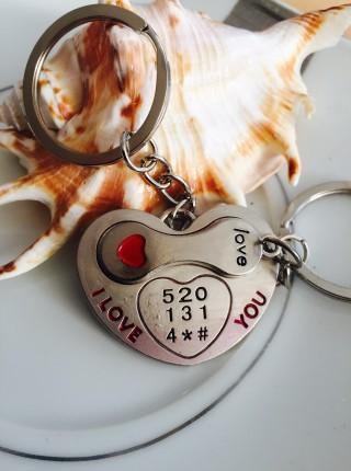 Kľúčenky pre dvoch Srdce Slúchadlo