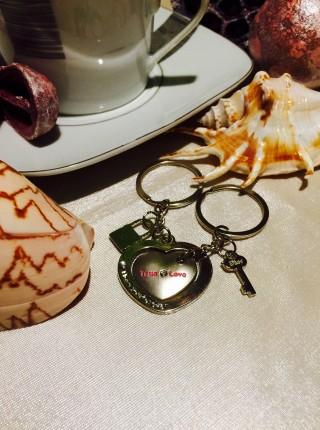 Kľúčenky pre dvoch Srdce v srdci Zámok kľúč