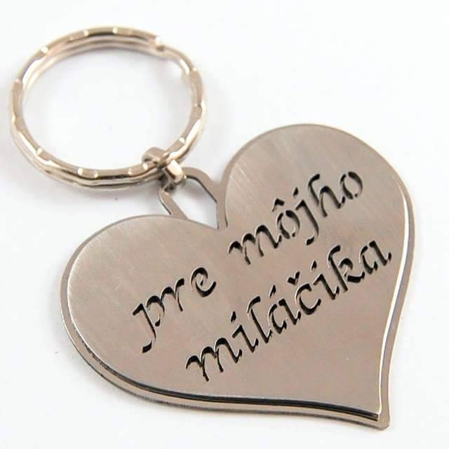 Kľúčenka Srdce s gravírovaným venovaním  cad46d42532